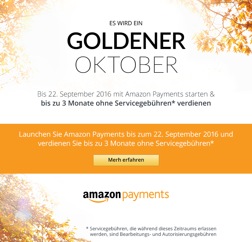 Goldener Oktober - Jetzt teilnehmen