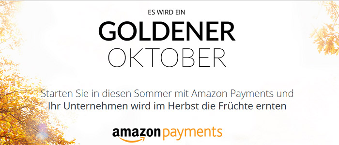 Goldener Oktober Amazon Payments